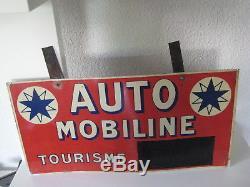 Plaque tôle Automobiline années 30