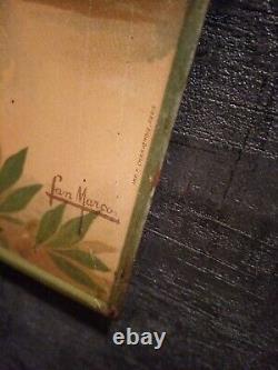 Plaque tole emaillee ancienne le nil papier cigarettes