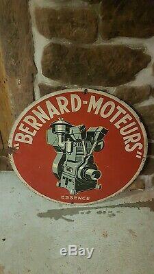 Plaque tole peinte très rare moteurs Bernard Originale