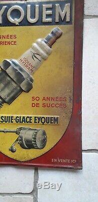 Plaque tole publicitaire ancienne