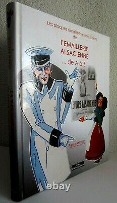 Plaques émaillee livre de l'émaillerie alsacienne de A a Z de pierre meyer
