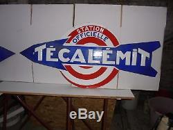 Plaques émaillées de garage TECALEMIT