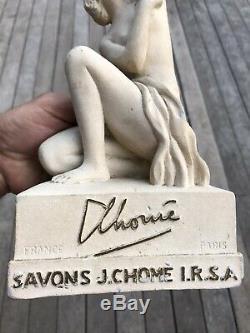 Pltre Publicitaire Ancien Savons J. Chome-paris
