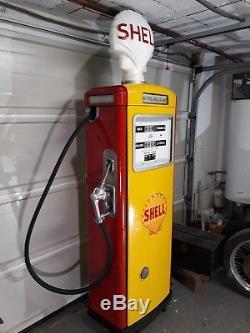 Pompe a essence ancienne SATAM SHELL