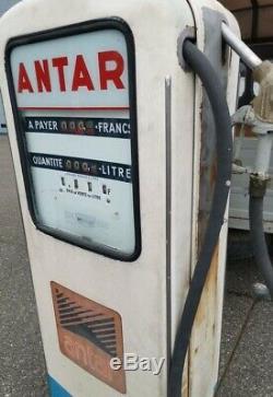 Pompe essence Boutillon ANTAR année 50 / 60 déco garage AUTO MOTO VINTAGE