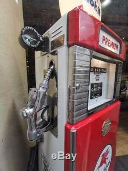 Pompe essence ancienne WAYNE MOBIL année 50 déco garage USA AUTO MOTO VINTAGE