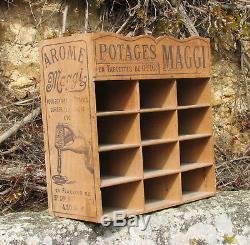 Potages Maggi. 1 X Etagere Ancienne Publicitaire. En Bois. Plv. Bel Etat