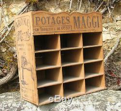 Potages Maggi. 1 X Etagere En Bois. Hauteur 41 / Largeur 42 / Profondeur 20