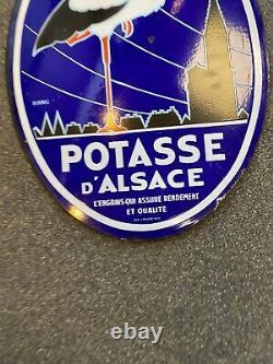 Potasse D'Alsace Plaque Emaillee