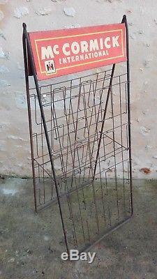 Présentoir MCCORMICK IH International/plaque/panneau/publicitaire/PLV/années 40