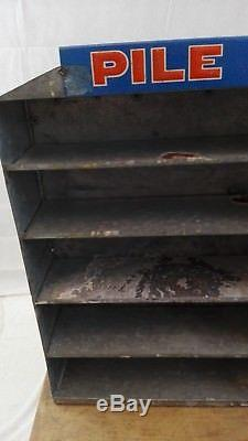 Présentoir Pîle WONDER ancien compartimenté/tôle peinte/SPAP/old garage