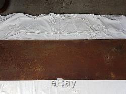 RARE ANCIENNE GRANDE PLAQUE EMAILLEE CHOCOLAT MENIER. 165,5cm X 50cm