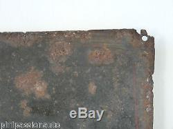 RARE ANCIENNE PLAQUE EMAILLEE CHOCOLAT PUPIER 1930 bombée Emaillerie E. A. S