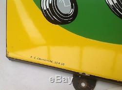 Rare Ancienne Plaque Emaillée Pneus Michelin Tracteurs Etat Mint