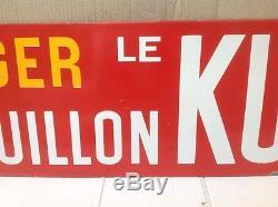 Rare Ancienne Plaque Émaillée Exigez Le Bouillon Kub Authentique