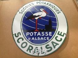 Rare Ancienne Plaque Émaillée Potasse D Alsace Scories Potassiques