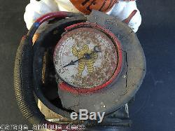 RARE & Ancien Compresseur Michelin Bibendum 1930 Gonfleur! Bidon huile! No 2