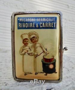 RARE Etui à Cigarettes Rivoire & Carret marmiton no plaque émaillée kub maggi