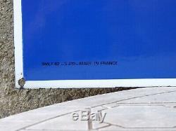 RARE GRANDE PLAQUE ÉMAILLÉE MICHELIN DOUBLE FACE 80 X 80 cm BIB BIBENDUM