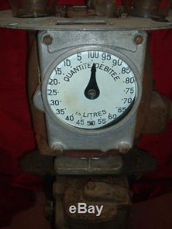RARE MECANISME HARDOLL POMPE A ESSENCE SATAM bidon huile oil can pump tanksaule