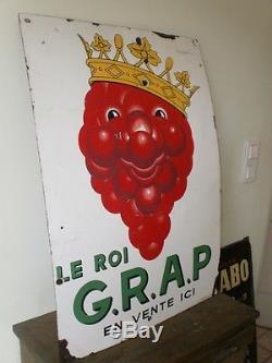 RARE PLAQUE EMAILLEE LE ROI GRAP D APRES BEUVILLE