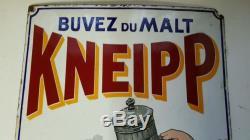 RARE PLAQUE EMAILLEE MALT KNEIPP
