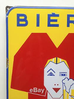 RARE Plaque Emaillée Bière Sochaux 1950! 38 x 58 cm! EAS! TBE! A voir