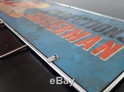 RARE Plaque émaillée Casterman double-face Tintin/Farandole circa 1965