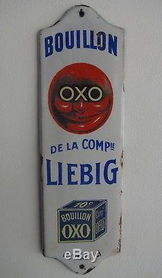 RARE Plaque émaillée de propreté OXO LIEBIG no menier kub maggi vache qui rit