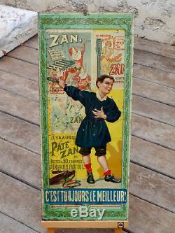 RARE TÔLE LITHO ZAN c. 1900 CONFISERIE