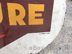 RARE TOLE PEINTE ESSENCE LA MURE bidon huile oil pompe pump shell esso bp azur