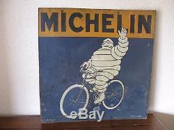 Rare Tole Peinte Michelin Pneu Velo Annee 1920 Fabricant G De Andreis Marseille