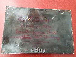 RARE TRIBUNE REPUBLICAINE PLAQUE EMAILLEE PRESSE JOURNAL 20cm sur 30cm