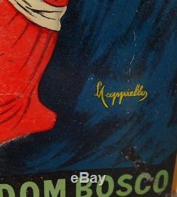 RARE Tôle litho LIQUEUR ANGELUS 1920 L. Cappiello no plaque émaillée menier kub