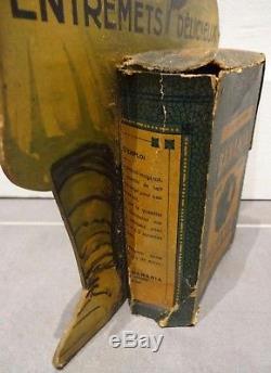 RARE ancien présentoir carton PLV boite BANANIA 1930 no plaque émaillée