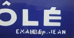 RARE ancienne plaque émaillée de métro LAIT MAGGI no kub menier oxo liebig