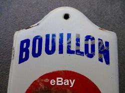 RARE ancienne plaque émaillée de propreté BOUILLON OXO LIEBIG 1930 no kub carton