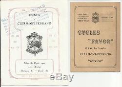 RARE grande tôle gaufrée CYCLES FAVOR 1910 vélo moto n bidon huile caisse garage