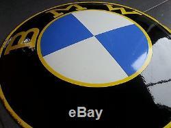 RARE plaque emaillée BMW années 50 R71 R73 R75 moto ancienne collection