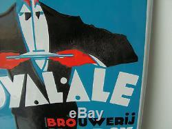 RARE plaque émaillée biere ROYAL AL KOEKELBERG BRUXELLES signé R VAN DOREN 1934