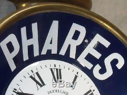 RARISSIME HORLOGE PHARES DUCELLIER 1910 huile oil can pompe pump tanksaule clock
