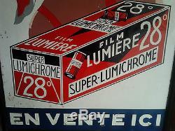 Rarissime ++++++ Panneau Tole Film Lumiere Lumichrome