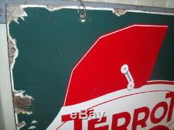 RARISSIME PLAQUE EMAILLE POUSSETTE TERROT EAS 1940 bidon huile pompe pump oil