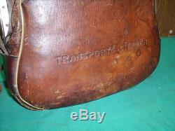 RARISSIME SACOCHE CUIR TRANSPORTS CITROEN 1920/30 gas pump tanksaule oil bidon
