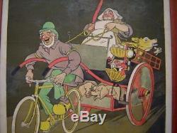 Rare Affiche Bicyclette ELITH signée MICH Vélo Déco Garage