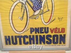 Rare Ancienne Affiche Hutchinson Signée Mich Pur Jus No Copy