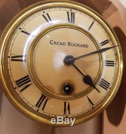 Rare Ancienne Pendule Chocolat Cacao Suchard Velma Publicitaire