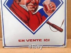 Rare Ancienne Plaque Emaillée Vin Du Postillon Très Bon Etat No Copy Pur Jus