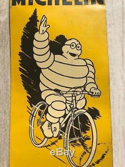 Rare Ancienne Plaque MICHELIN Tole Non Émaillée Garage Bibendum Pneus Velo Moto
