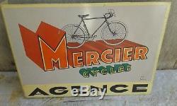 Rare Ancienne Plaque Tôle Potence 2 Faces Vélo Mercier